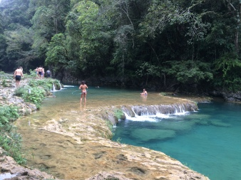Semuc Champey pools in the Cahabòn River, Alta Verapaz, Guatemala. -- Karina Noriega
