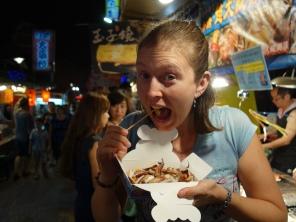 Tasty octopus tentacles! Hualien, Taiwan - Karina Noriega