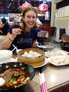 Late arrival in Taichung, then eating Taiwanese food for the first time. - Karina Noriega